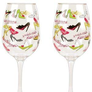 🍷Lolita Stiletto Set of 2 Wine 🍷 Glasses